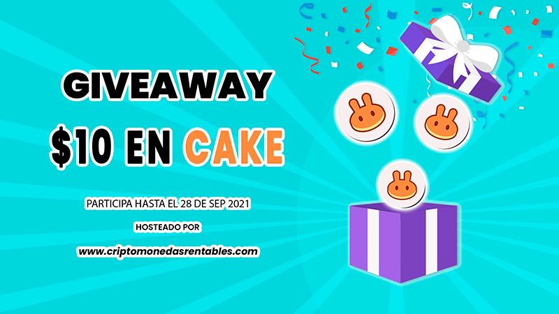 CAKE Giveaway: 1 Afortunado Ganador recibirá $10 en Tokens de PancakeSwap grilla-concurso