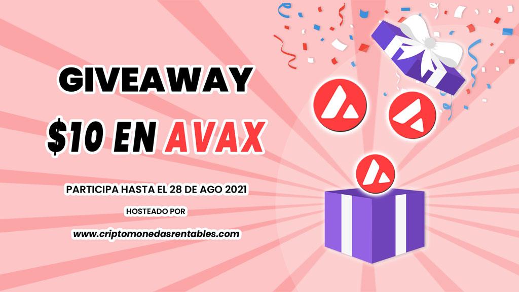 AVAX Giveaway: 1 Afortunado Ganador recibirá $10 en Avalanche (AVAX) grilla-concurso