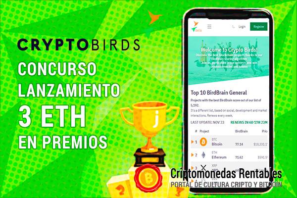 Gana hasta 3 ETH participando del Concurso de Lanzamiento de Crypto Birds Platform