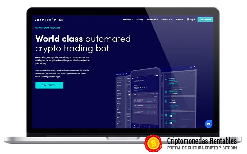 CryptoHopper Opiniones y Review | Plataforma de Bots de Trading en Español 01