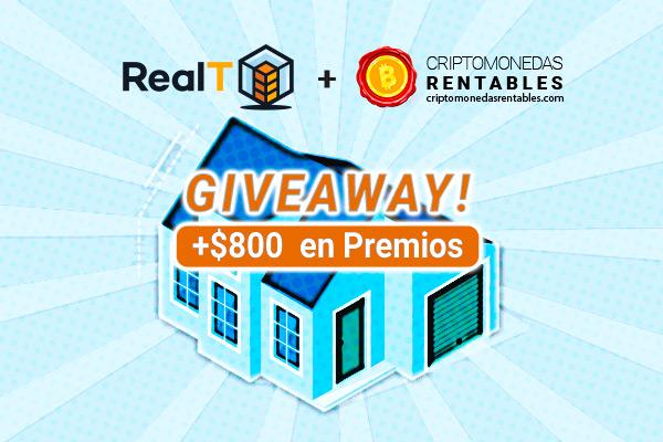 RealT Giveaway: +$800 en Premios   Sé propietario de una casa tokenizada en USA