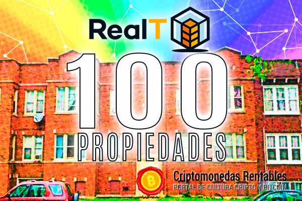 RealT alcanza las 100 propiedades tokenizadas y regala un NFT exclusivo