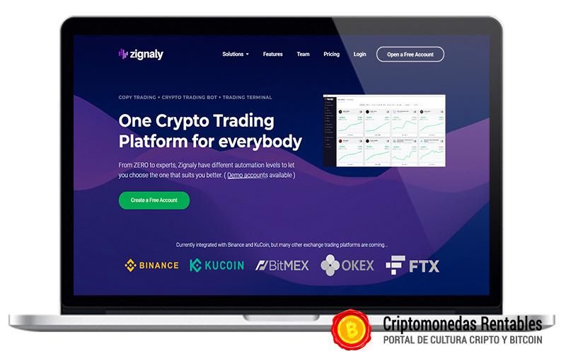 Zignaly Opiniones y Review | Plataforma de Bots de Trading de Criptomonedas 01